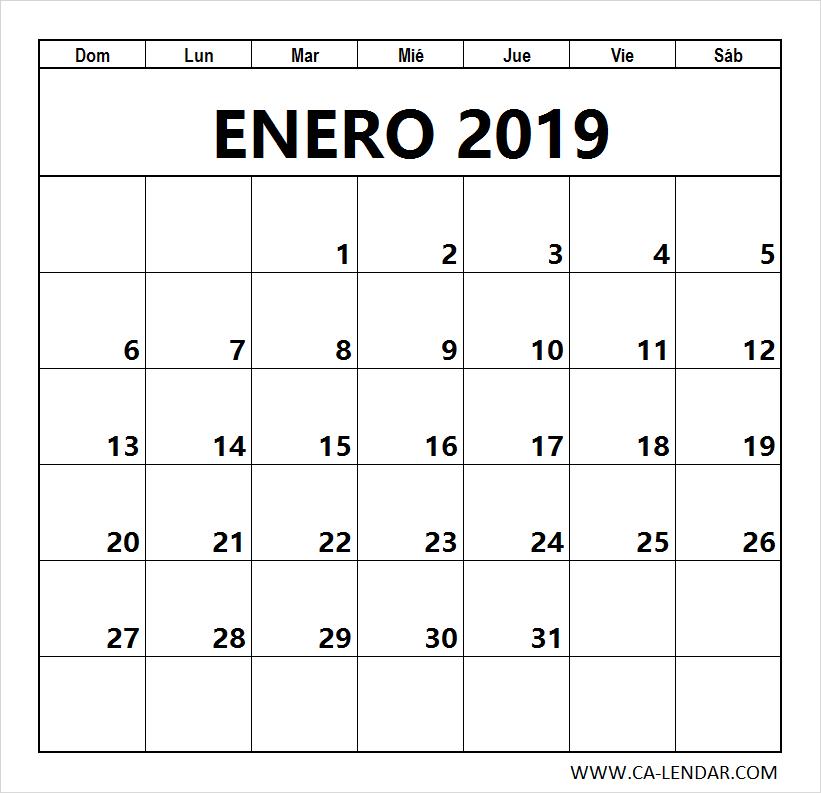Calendario Julio 2019 Para Imprimir.Enero 2019 Calendario Para Imprimir Calendario Plantilla