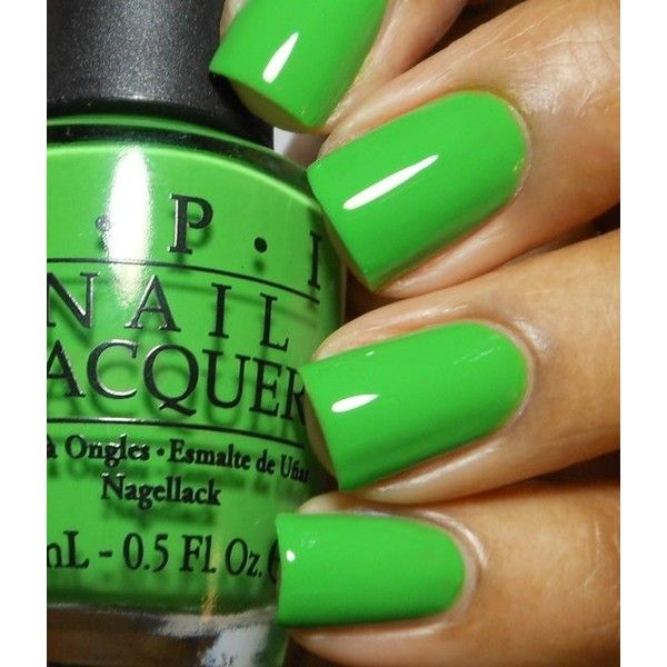 Nails-Neon Green! ❤ liked on Polyvore | Nails | Pinterest