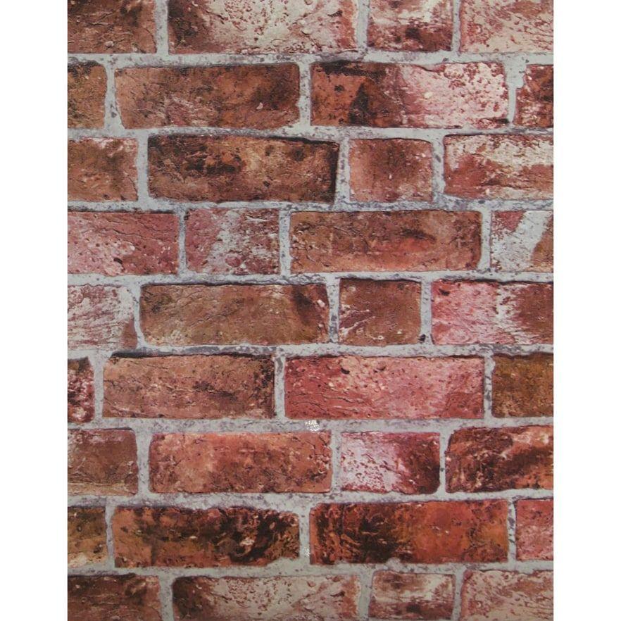 Modern Rustic Brick Wallpaper Brick Wallpaper Red Brick Wallpaper Orange Brick Wallpaper