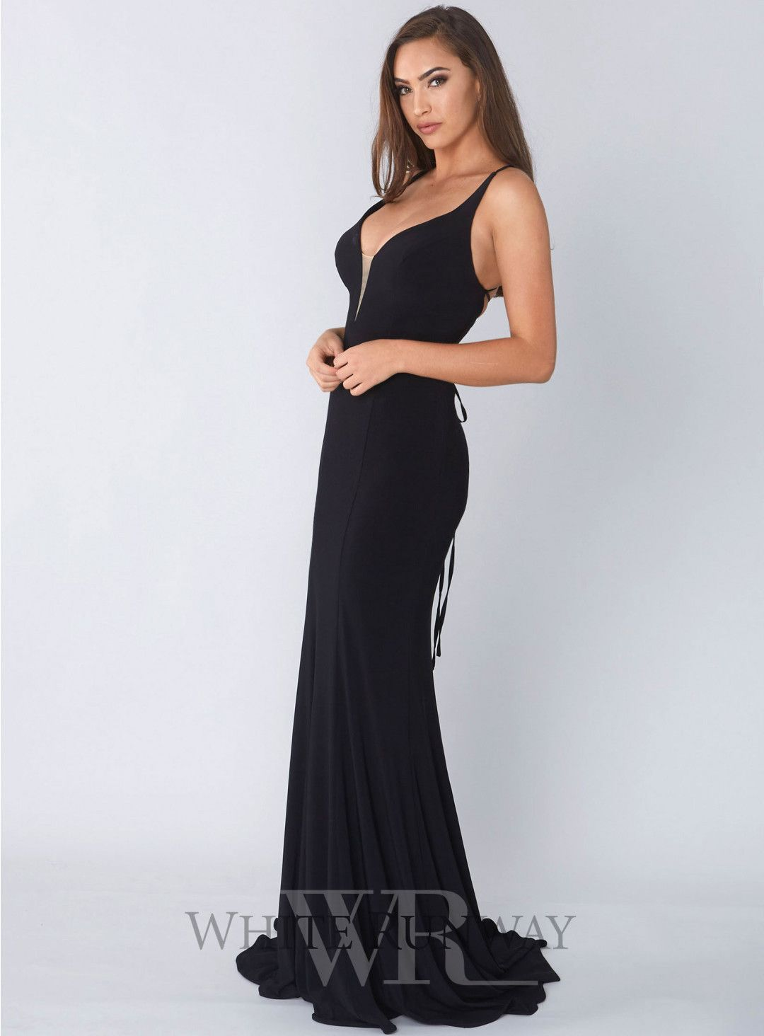 6a8a8e5c3a Matea Gown. A stunning full length dress by Tinaholy. A plunge gown with  mesh on the front and a low back with criss-cross detailing.