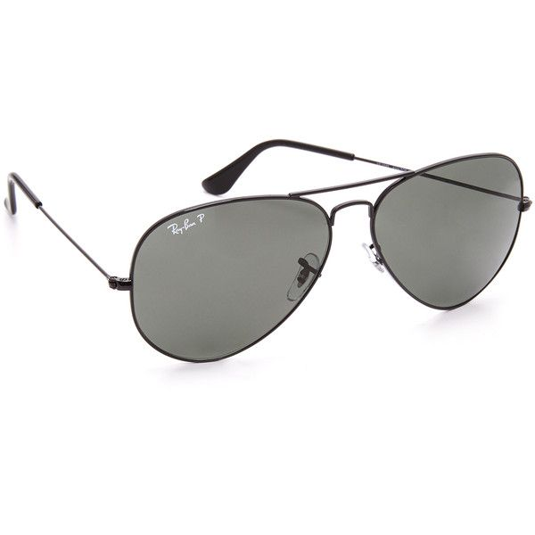 666538f58a Ray-Ban Oversized Polarized Aviator Sunglasses ( 200) ❤ liked on Polyvore  featuring accessories