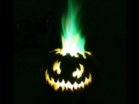 Flamethrower Pumpkin Flaming Halloween Jack O Lantern Youtube
