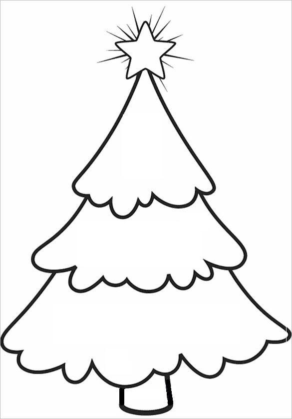 Free Christmas Tree Templates Christmas Tree Coloring Page Christmas Tree Template Christmas Tree Stencil