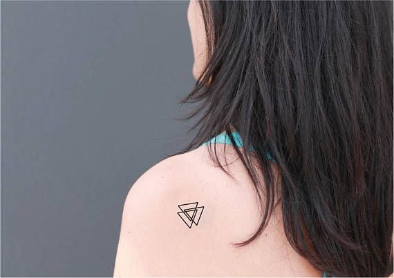 2 Triangles Temporary Tattoos Set Of 2 About 2x2 Cm 0 9x0 9 Temporary Tattoo Lasts From 2 To 5 Days Its Depends On T Tattoos Temporary Tattoos Tattoo Set