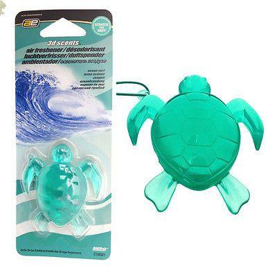 60d4e9ec Green #turtle 3d gel #hanging air freshener freshner #scent car home - ocean