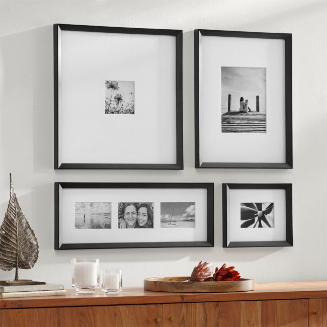 Icon Black Frame Gallery, Set of 4 + Reviews | Crate and Barrel