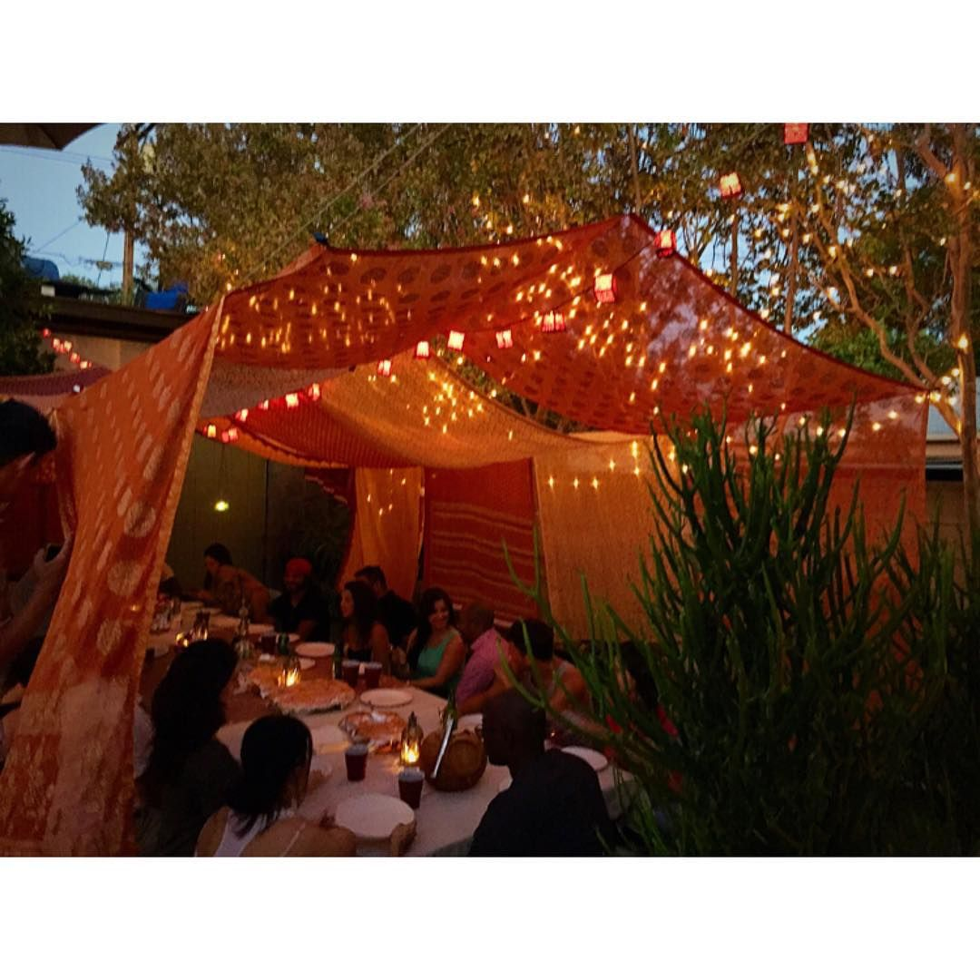 Oh Summer Nights... ❤ #birthdays #Justinesfab30s #losangeles #summerinLA #backyard #food #delish #great #friends #LAnights #beautiful #stringlights #Mediterranean