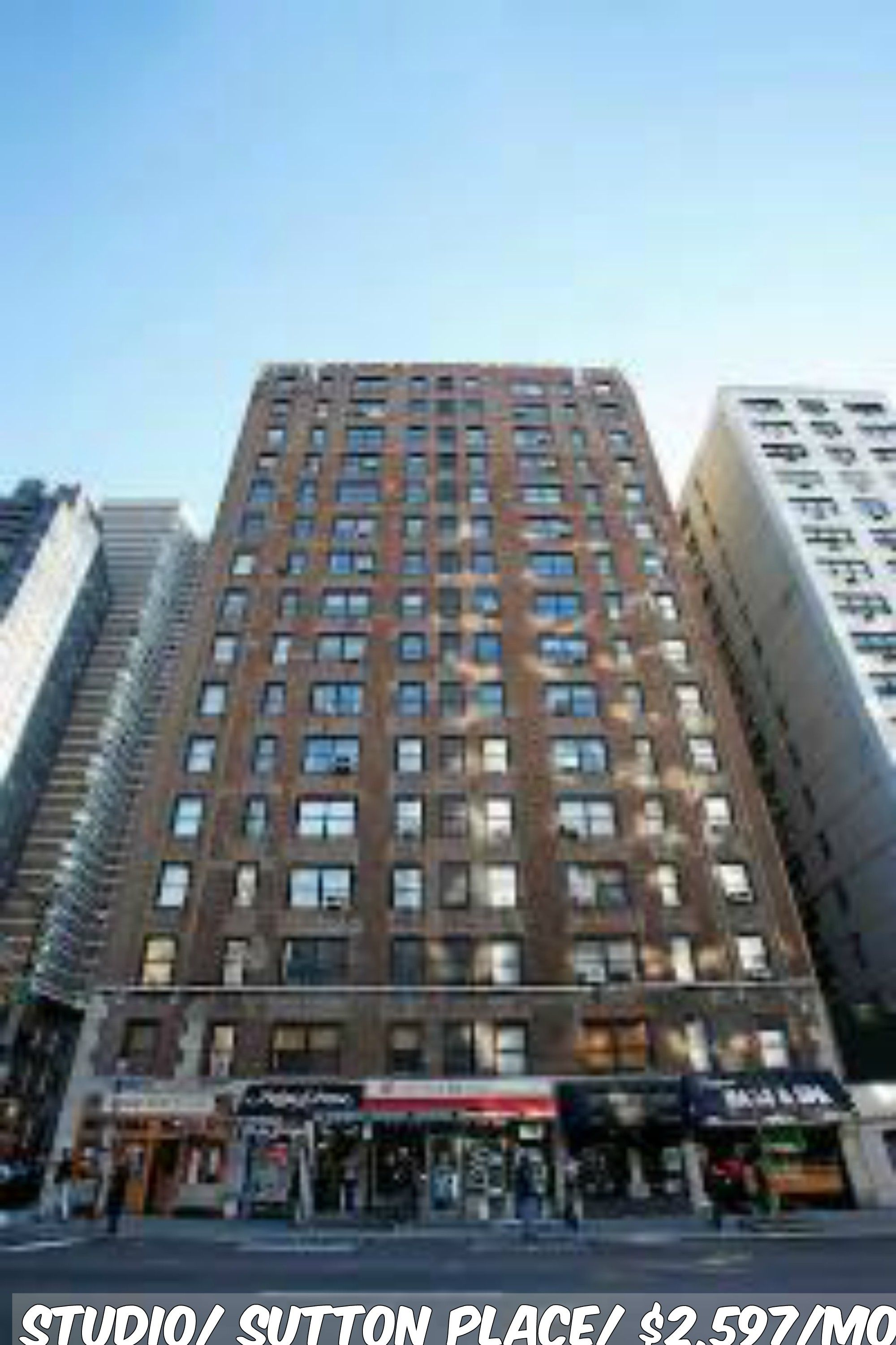 Studio apt for rent in Sutton Place at 2,597/mo.Doorman