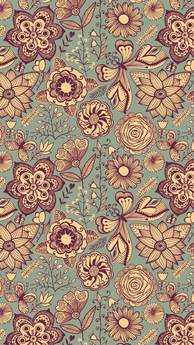 Flower Wallpaper For IPhone Or Android Tags Flowers Floral Pattern Backgrounds Mobile