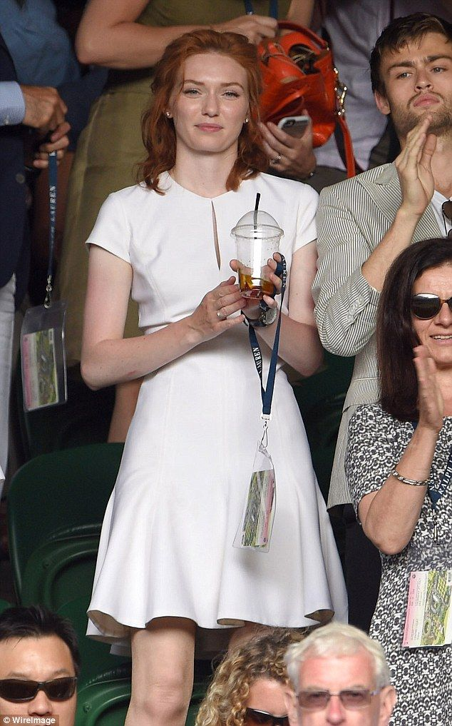 Looking good: Eleanor Tomlinson was seen attending the Robin Hasse vs