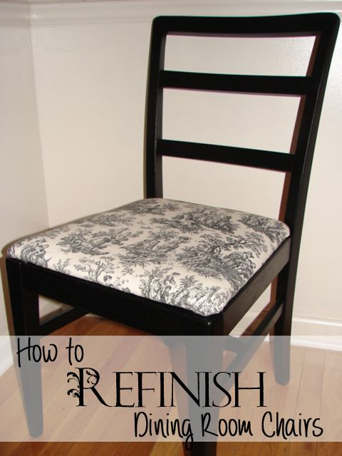 Step By Step Instructions On How To Refinish Dining Room Chairs. So Easy  With Spray