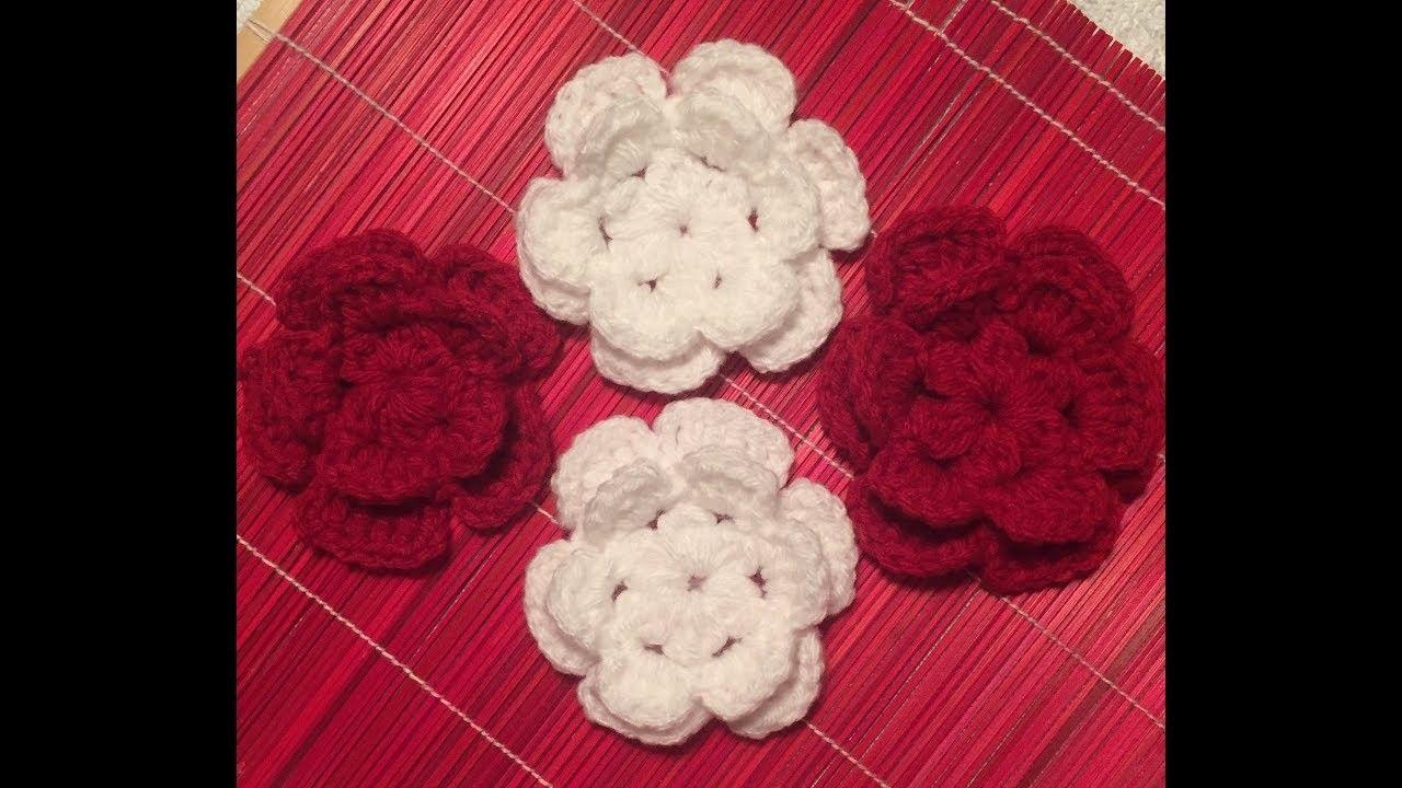 6 Petals flower ???? Flor de 6 pétalos a Crochet | Crochet, Flower ...
