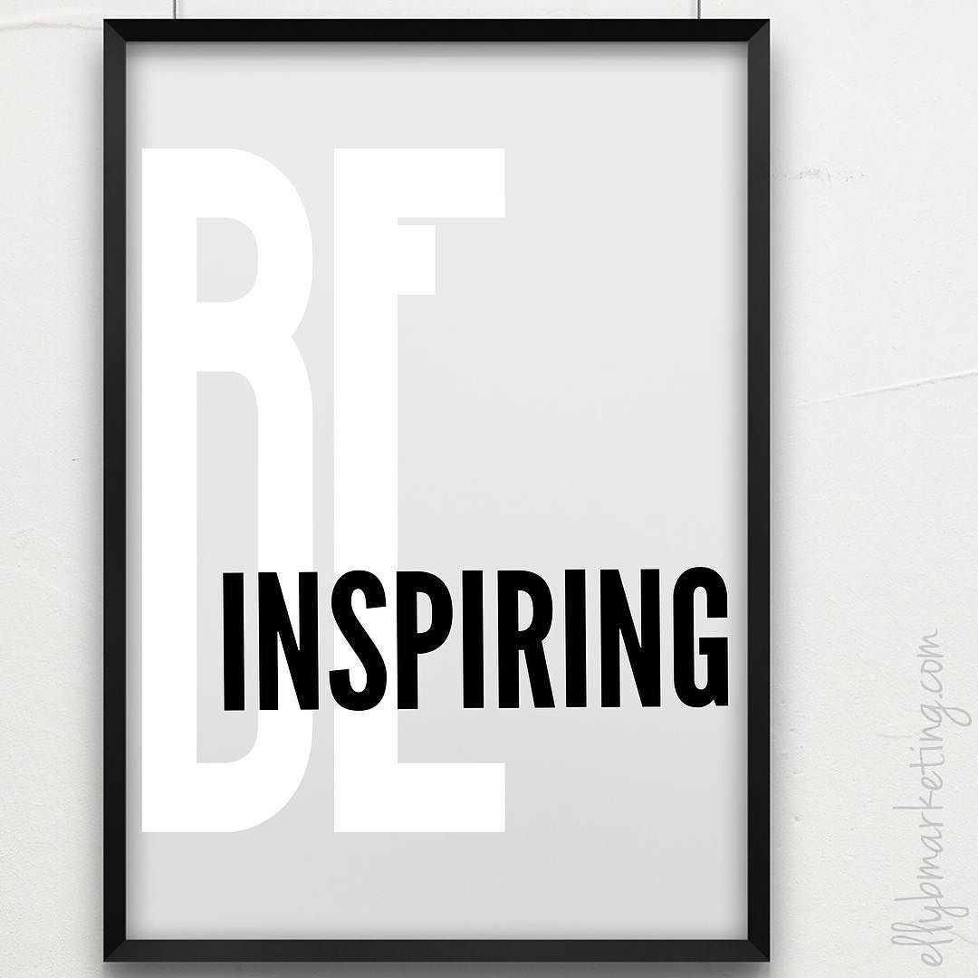 """There's no need to be perfect to inspire others. Let people get inspired by how you handle your imperfections."" . Happy Monday friends!! I'm going to begin each week with a word of the week (#WOW) to have a word of focus & encouragement. This week's word is inspiring (or in EBM world because my initials are BE..) BE Inspiring. John Quincy Adams said ""If your actions inspire others to dream more learn more do more & become more you're a leader."" . We're all leaders. Each & every one of us…"