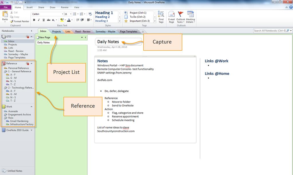 Gtd Outlook En Onenote