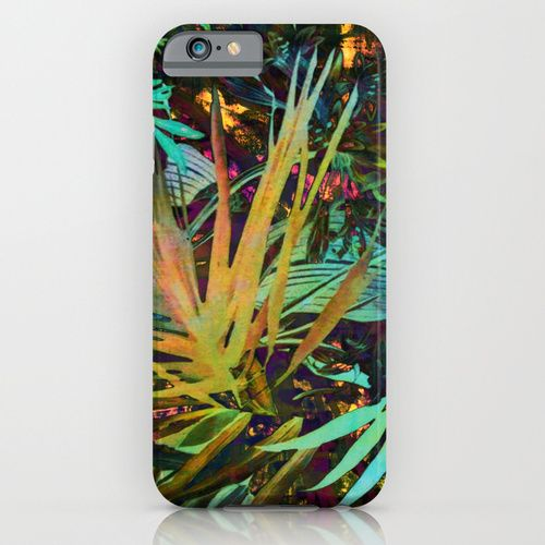 http://society6.com/product/jungle-tlt_iphone-case #tropical,#palm