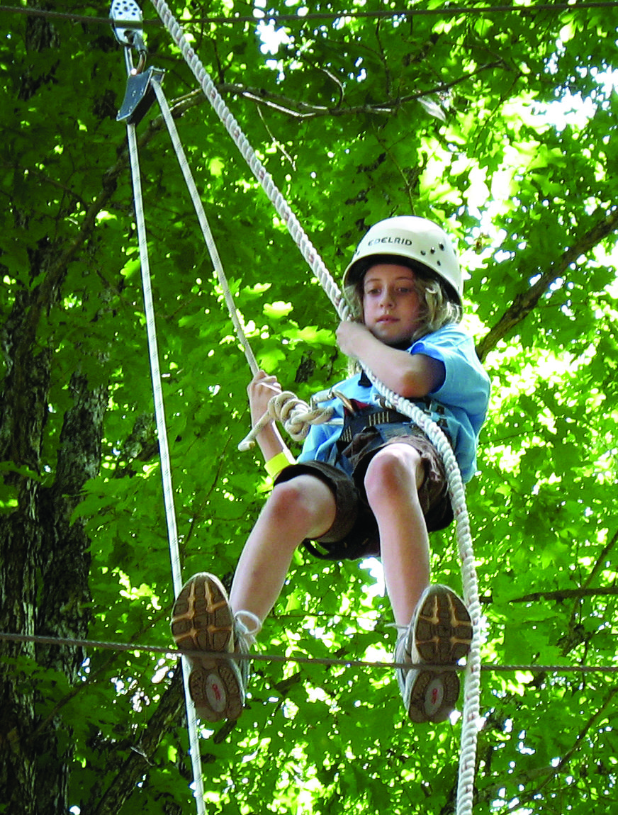 Trying The High Ropes Course Girl Scouts Scout Courage