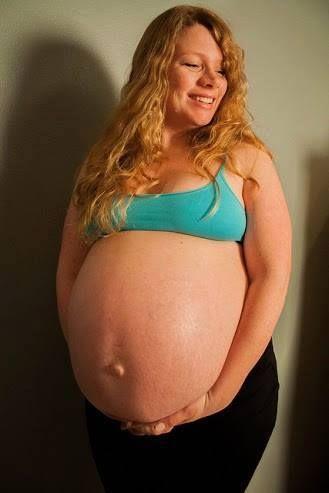 Naked bump pregnant huge