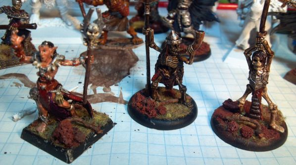 Wood details added to hand painted miniature base. Click to Enlarge.