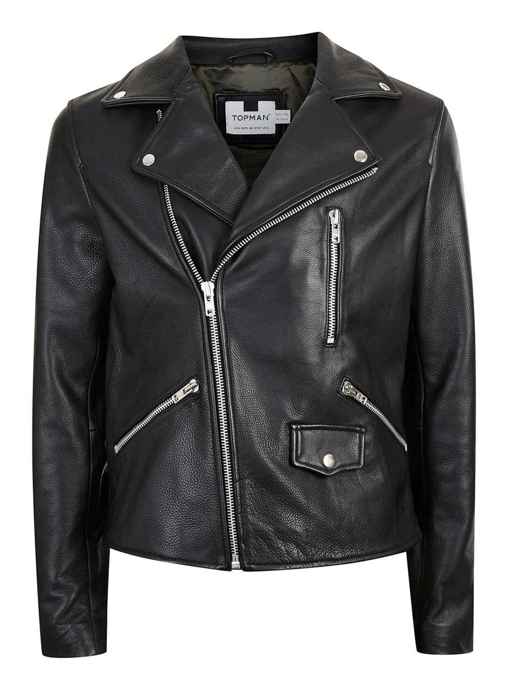 Black Leather Biker Jacket - Men's Coats & Jackets - Clothing. Veste De  Motard En Cuir HommeVestes En Cuir Pour ...