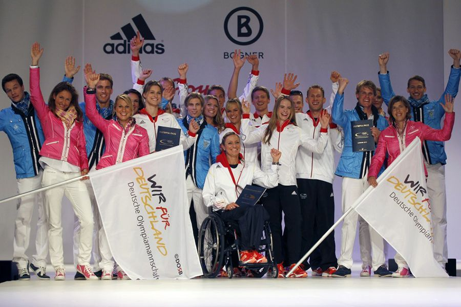 Germany's 2012 Olympic uniform unveiling.
