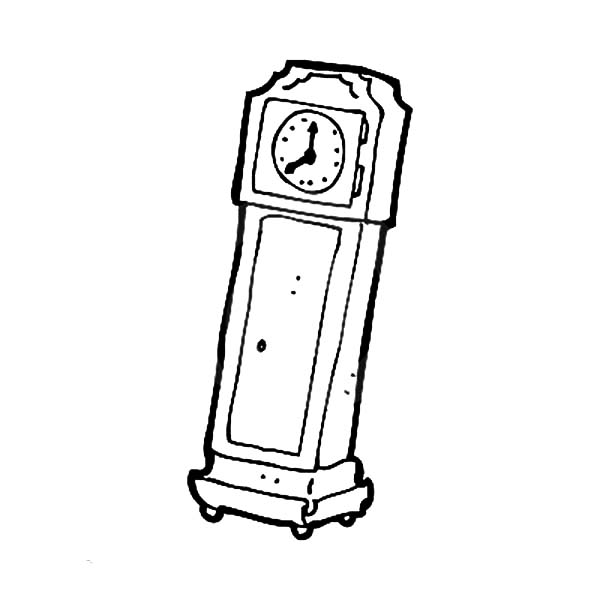 Retro Style Grandfather Clock Coloring Pages Color Luna Grandfather Clock Retro Fashion Coloring Pages