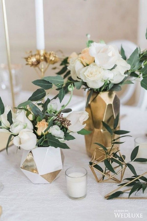 modern greenery and gold wedding centerpiece ideas wedding decor holz saal selber machen tisch vintage wedding decor wedding decor decor decor diy decor ideas decoration