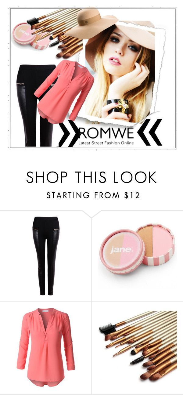 """""""romwe contest"""" by hari-sa ❤ liked on Polyvore featuring jane, LE3NO, Maison Michel, women's clothing, women, female, woman, misses, juniors and romwe"""