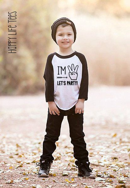 Im three lets party raglan Third Birthdays and Birthday party ideas