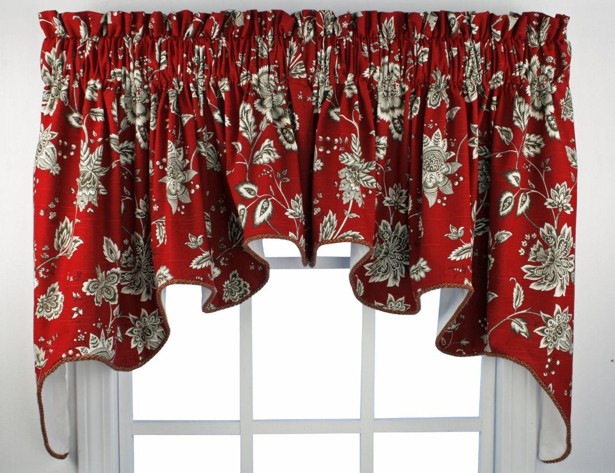 Red kitchen curtains and valances - Kitchen Window Valances French Country Choosing Decorative