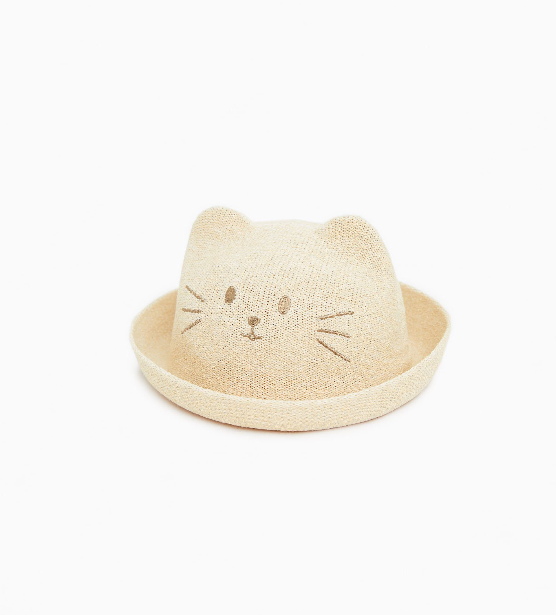 d8e81dab Sparkly straw hat with ears   baby clothes   Ear hats, Hats ...