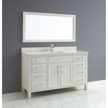 Costco Studio Bathe Calais 60 In White Single Vanity With