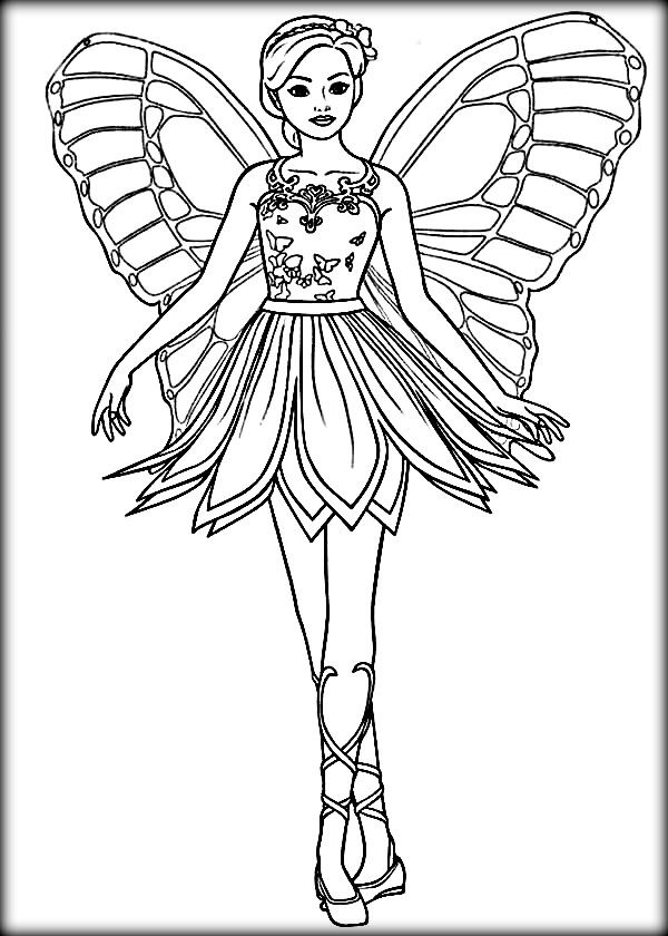 Disney Barbie Mariposa Coloring Pages Con Imagenes Princesa