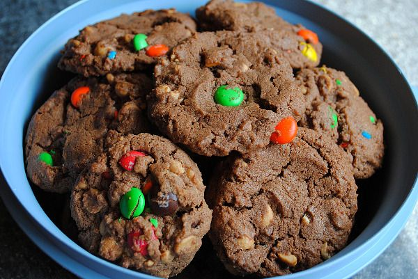 Double peanut butter chocolate cookies