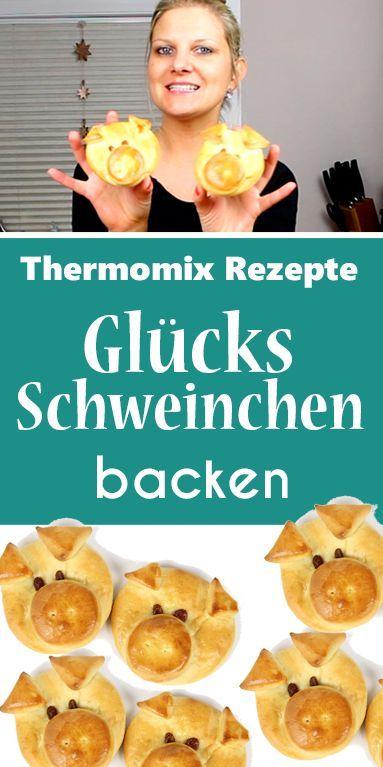 Glücksschweinchen – Süße Glücksbringer - dieHexenküche.de | Thermomix Rezepte #newyearsevefood