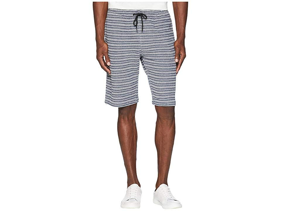 onia Saul Terry Shorts Deep Sky Mens Shorts Be stylish poolside in the onia Saul Terry Shorts Relaxed fit shorts Elastic waist with drawstring ties Side hand pockets with...