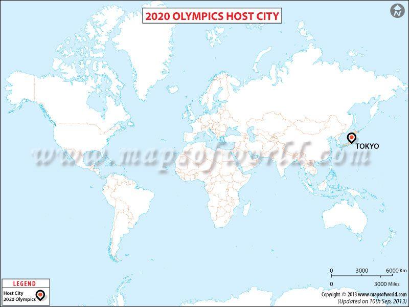 2020 Olympics Host City Map Olympics, Summer olympic