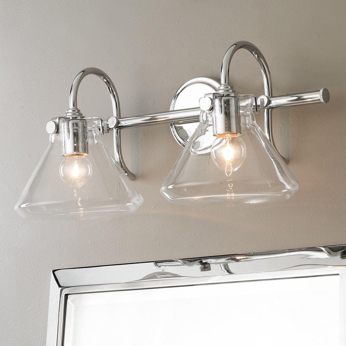 Beaker Glass Bath Light 2 Light Light Fixtures Bathroom Vanity Vintage Bathroom Lighting Led Bathroom Vanity Lights