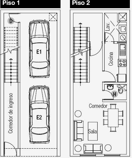 Planos de vivienda de 3 niveles en de terreno by for Disenos de casas de playa pequenas