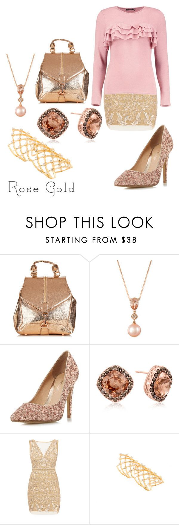 So Pretty Rose Gold Jewelry by blancadiaz1 liked on Polyvore