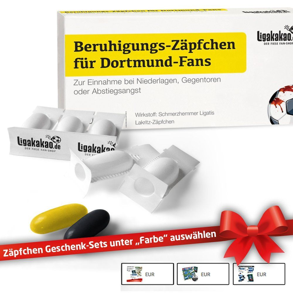Verschiedene Fußball Geschenke Für Männer Ideen Von *werbung | Beruhigungs-zäpfchen® Für Dortmund-fans & Geschenk-sets|