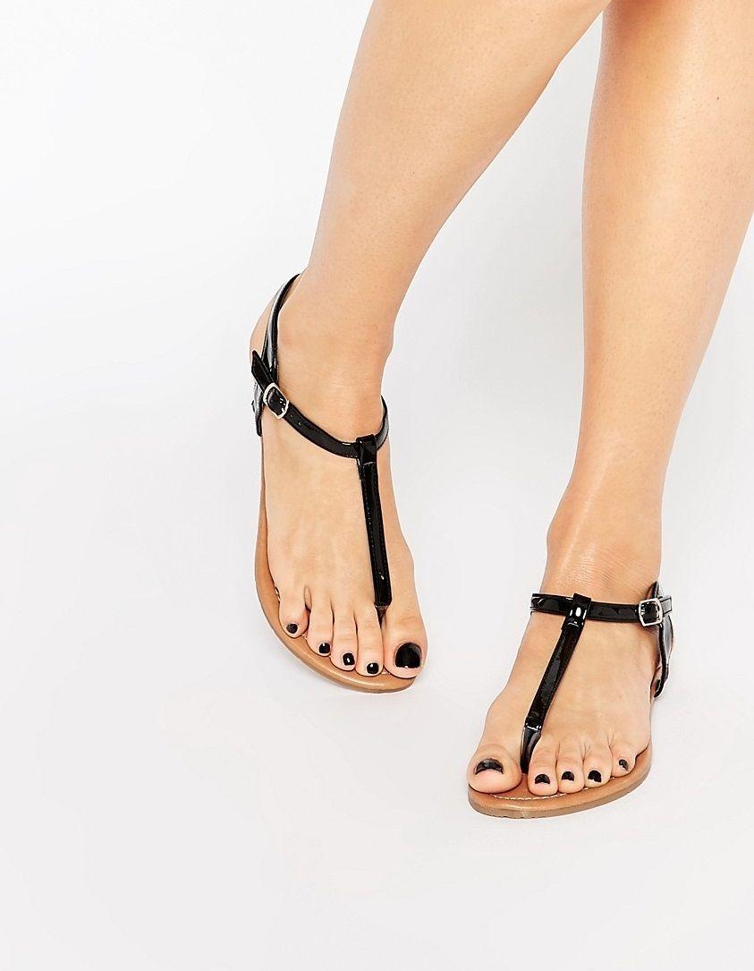 sexy Sandalen mit niedrigem Absatz