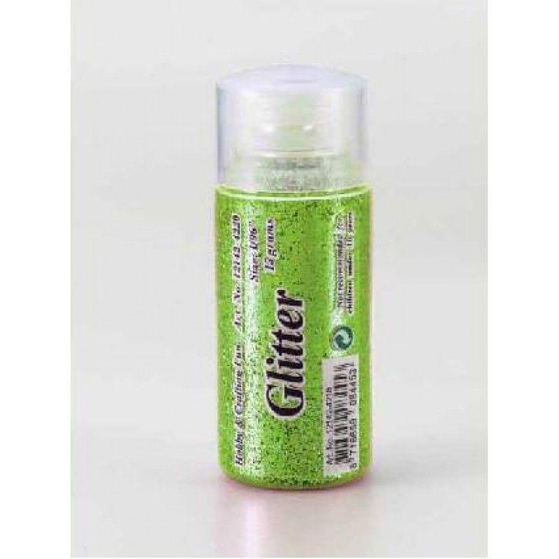 Glitter fijn licht groen 15 gr