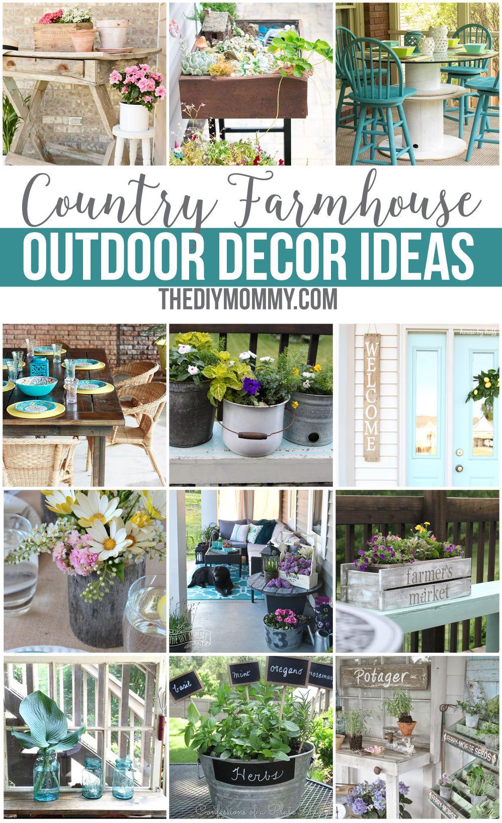 Gorgeous Country Farmhouse Outdoor Decor Ideas