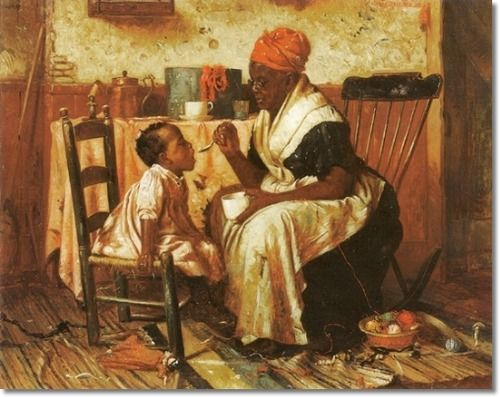 Harry Herman Roseland - Ethnic African American Art Painting - Reproduction Print - Harry Herman Roseland - One More Spoon - 1889 - 21x26 Inches - Original Image Size Painting