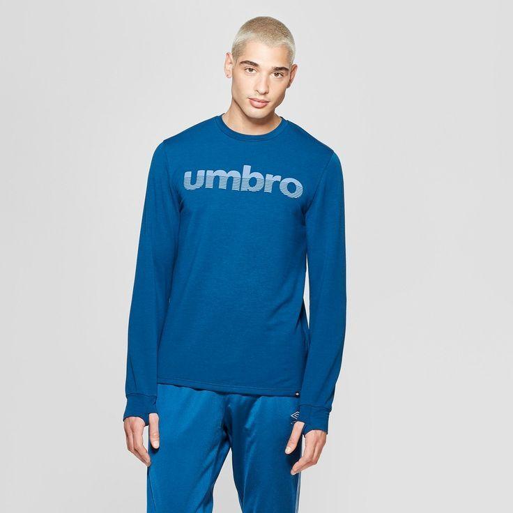 Download Umbro Men's Long Sleeve Logo T-Shirt - Poseidon Blue L ...