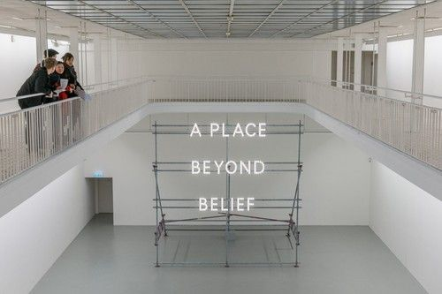 »a place beyond belief« by nathan coley