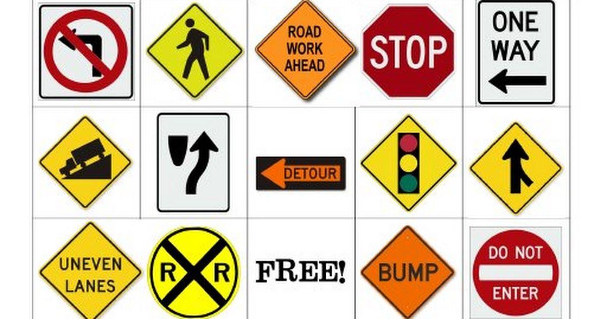 Road Trip Bingo_road signs.pdf (With images) Road trip