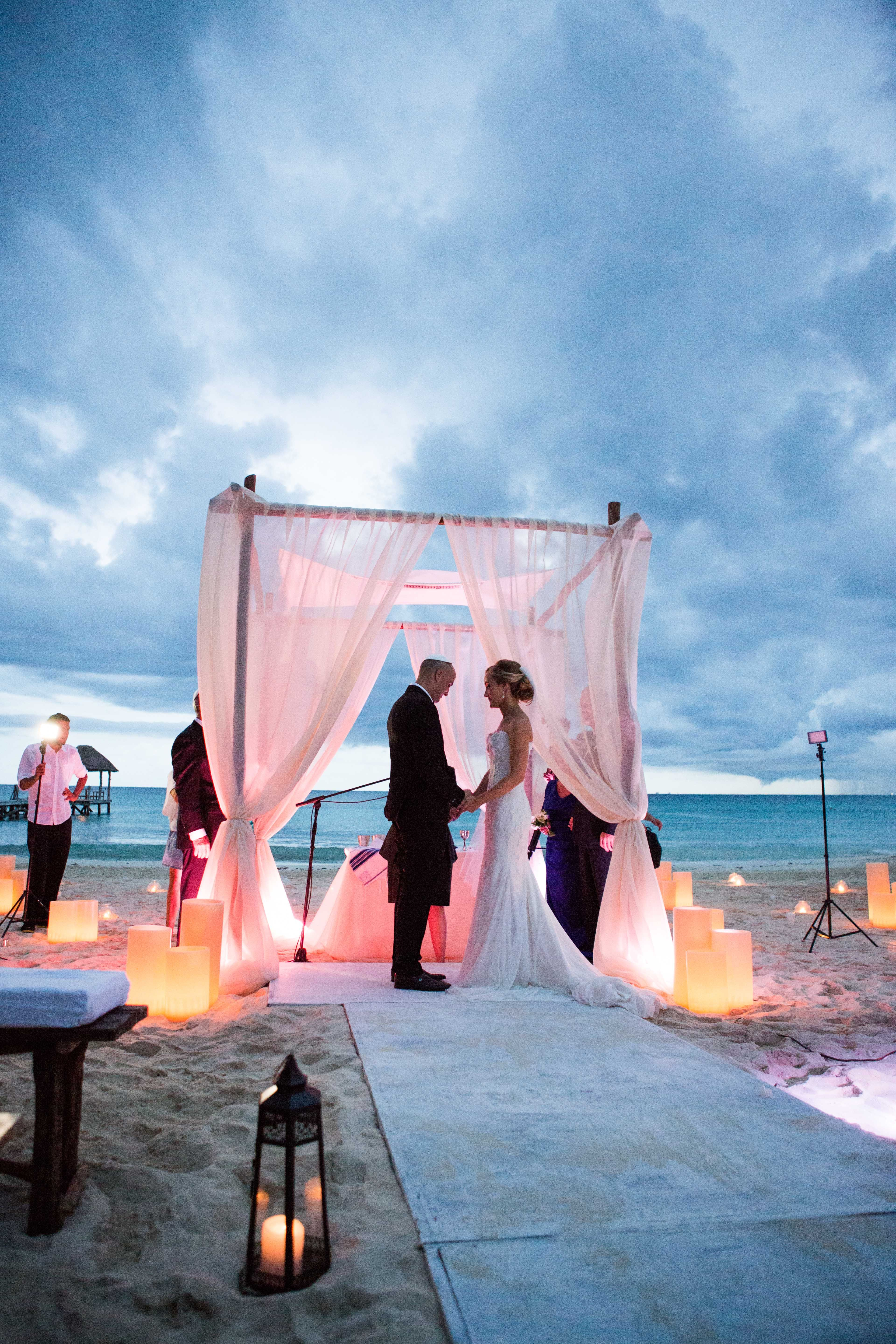 Brown Paper Design (Floral) Beachside Wedding in Mexico