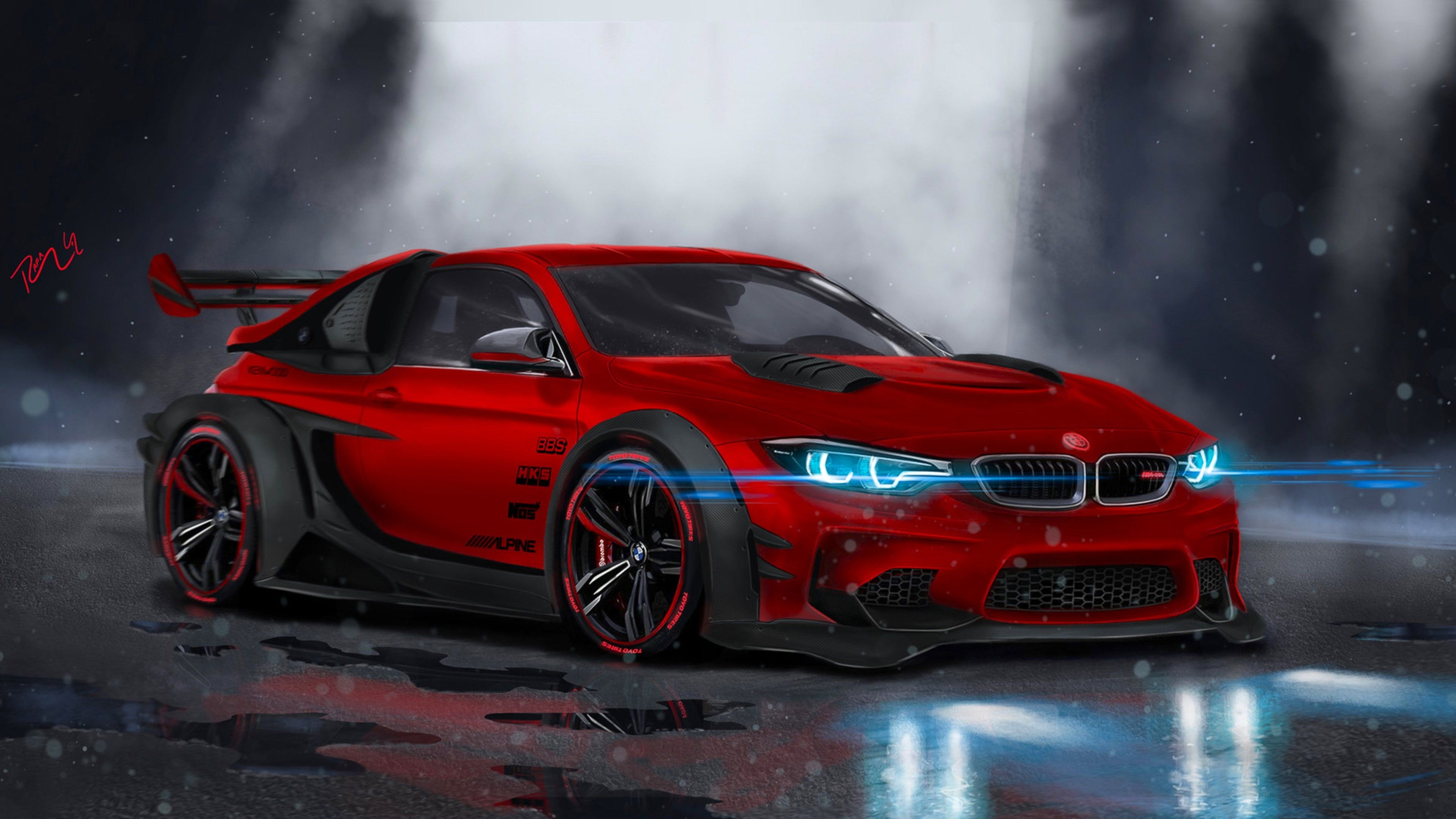 Bmw M4 Highly Modified High Definition Wallpapers Sports Car Wallpaper Bmw M4 Bmw Sport