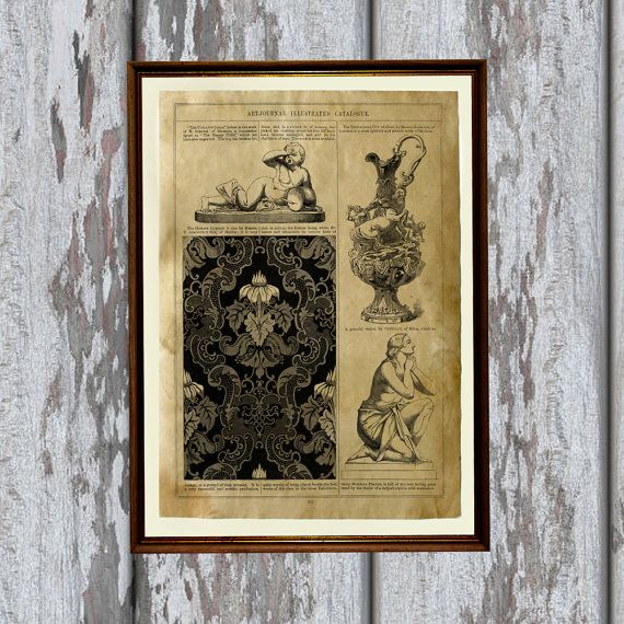 Amazing Antique poster. Gorgeous Victorian print for your home and office. Adorable Aged print. Pretty contemporary Parchment decor.    SIZE: 8.3 x 11.7
